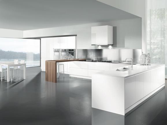 Cucine Moderne » Cucine Moderne Bianche Lucide - Ispirazioni Design dell...